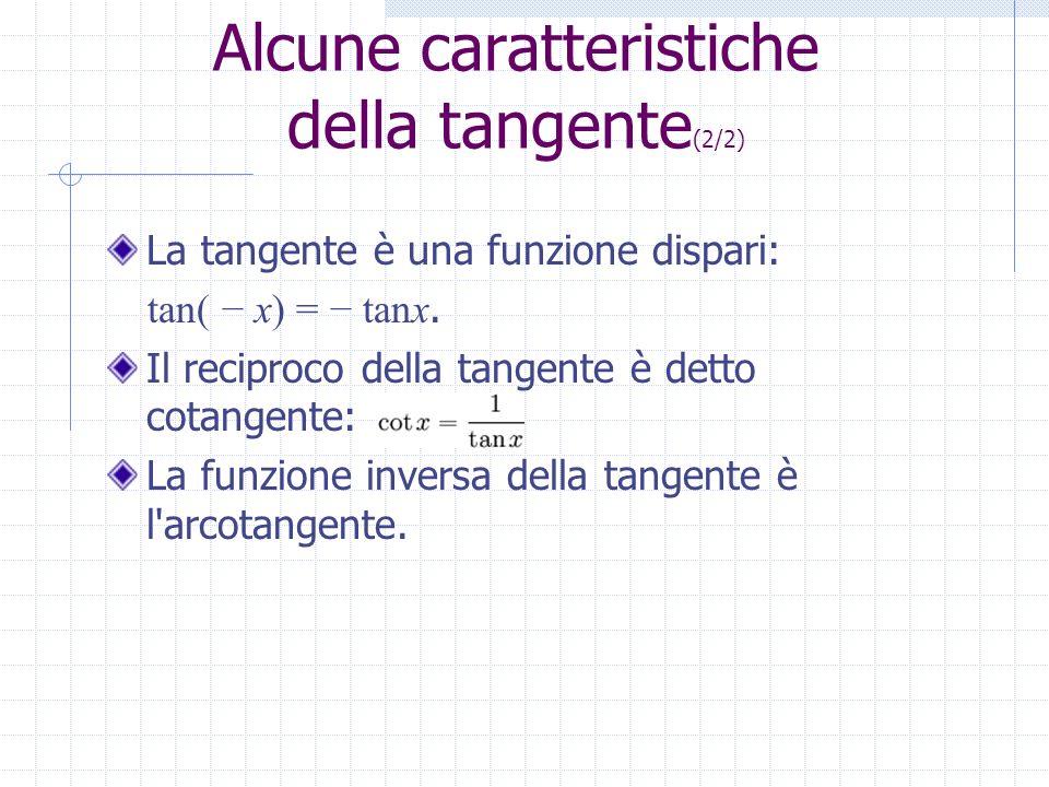 Alcune caratteristiche della tangente(2/2)