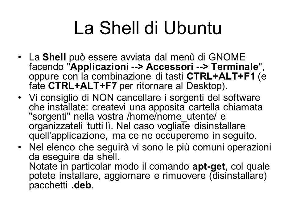 La Shell di Ubuntu