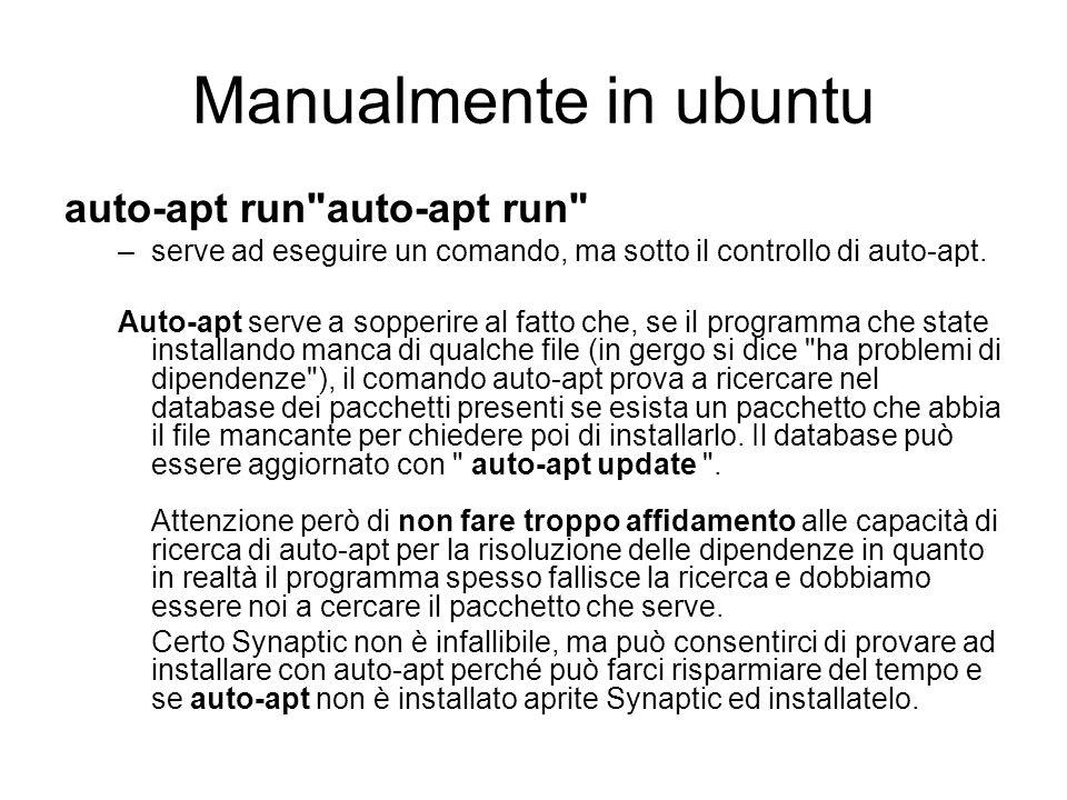 Manualmente in ubuntu auto-apt run auto-apt run