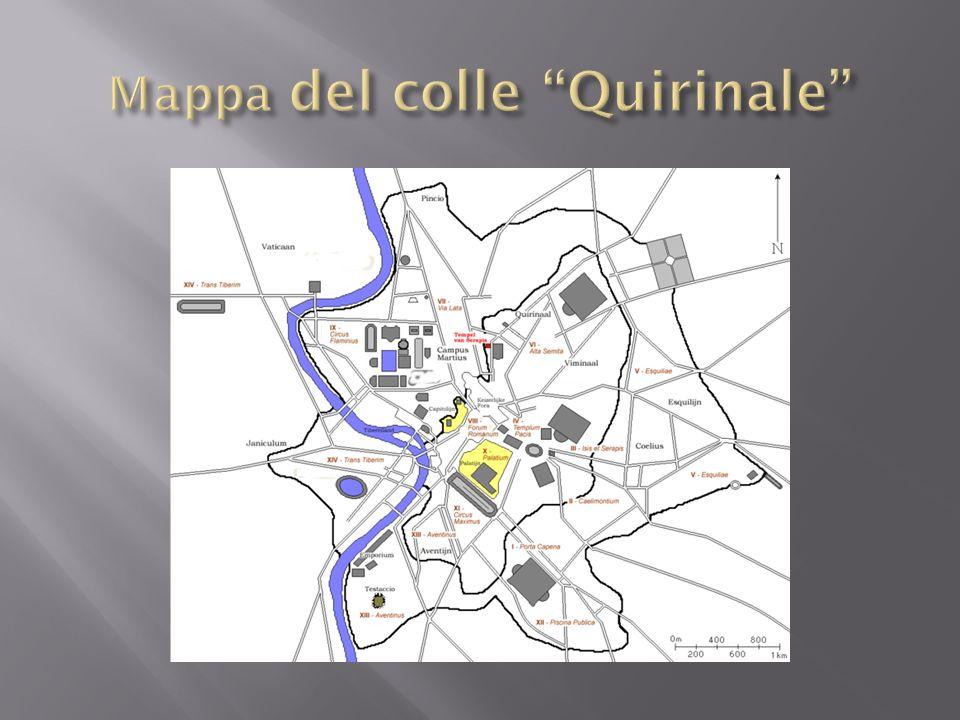 Mappa del colle Quirinale