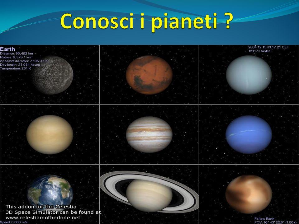 Conosci i pianeti