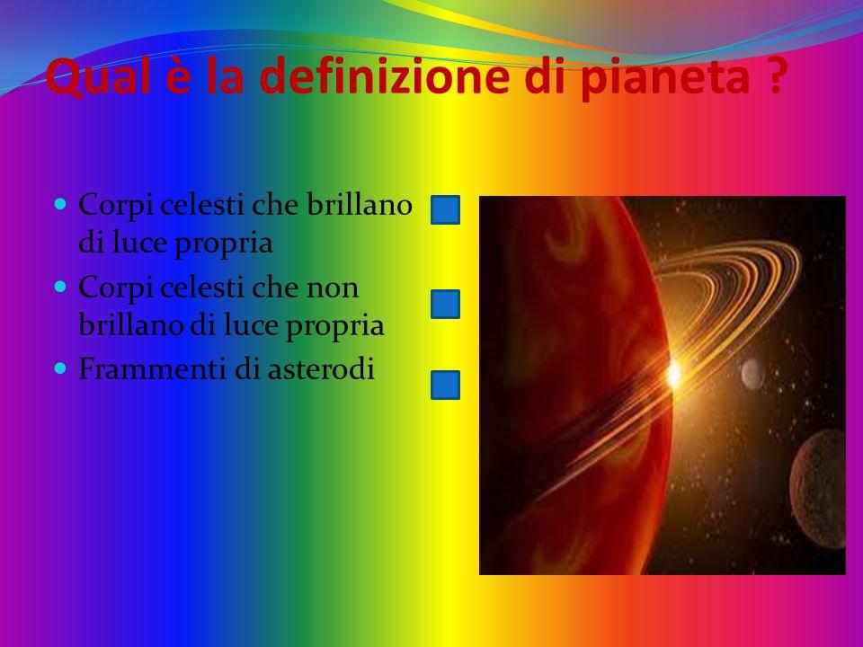 Qual è la definizione di pianeta