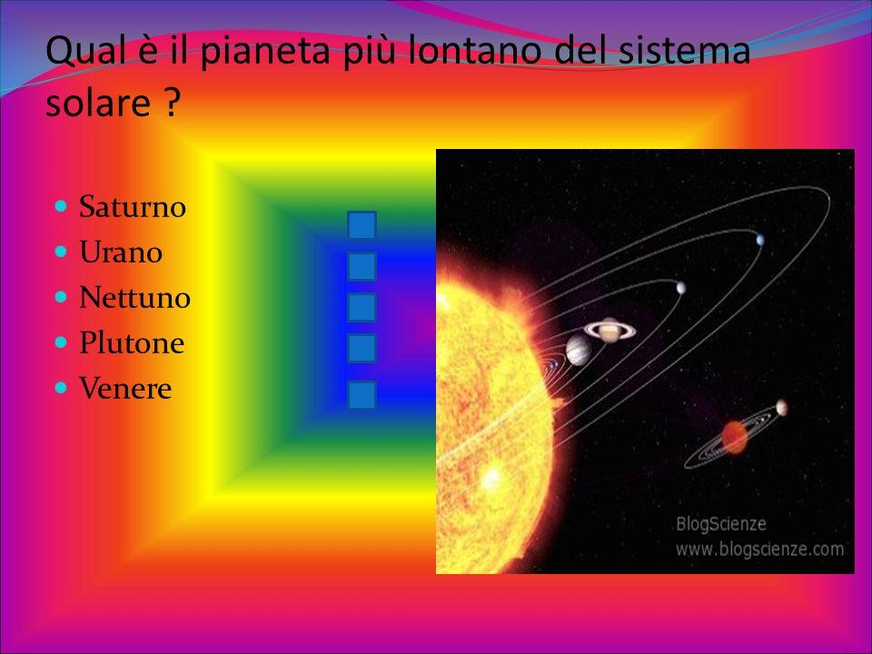 Qual è il pianeta più lontano del sistema solare
