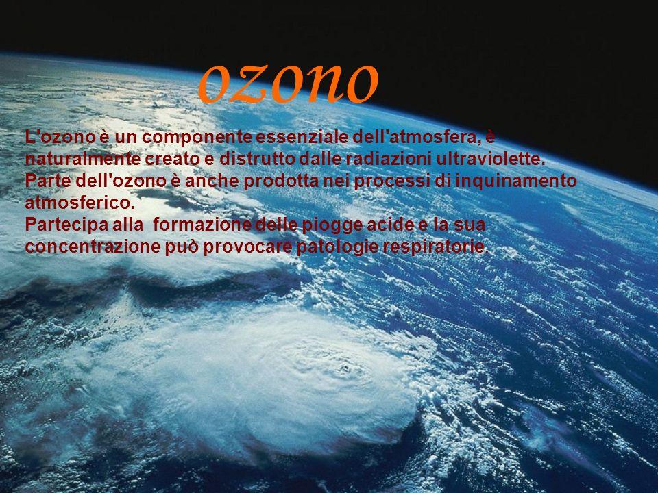 ozono L ozono è un componente essenziale dell atmosfera, è naturalmente creato e distrutto dalle radiazioni ultraviolette.