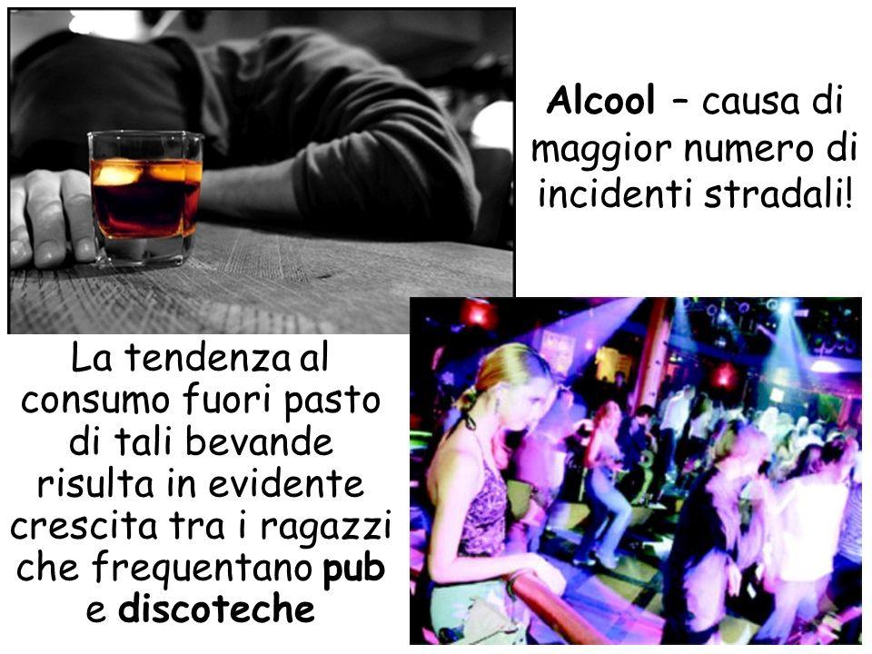 Alcool – causa di maggior numero di incidenti stradali!