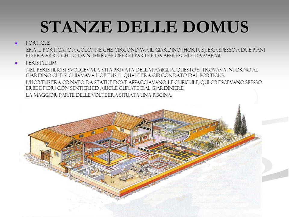 STANZE DELLE DOMUS PORTICUS