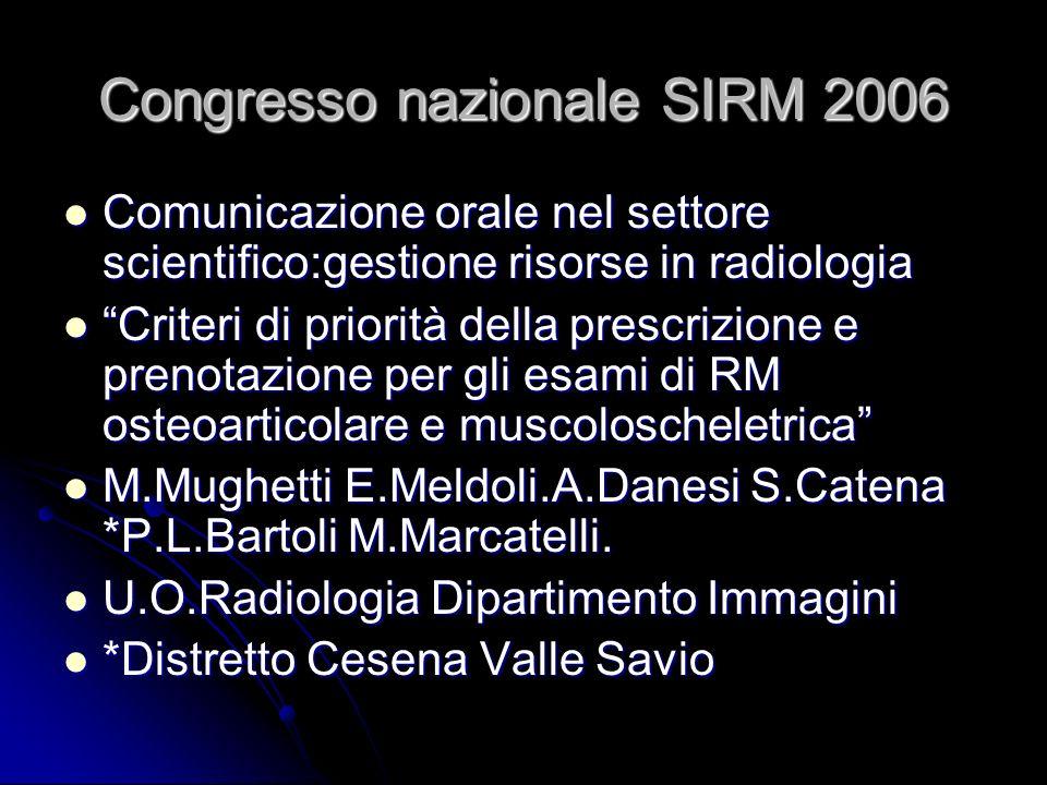 Congresso nazionale SIRM 2006
