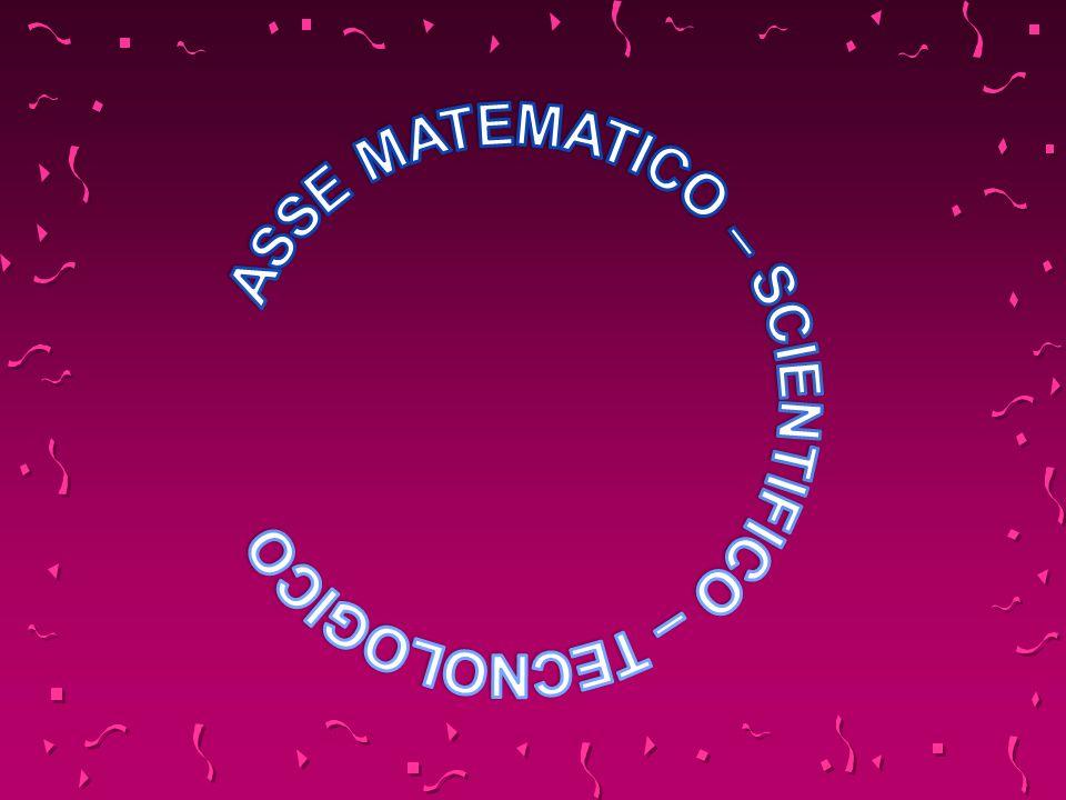 ASSE MATEMATICO – SCIENTIFICO – TECNOLOGICO