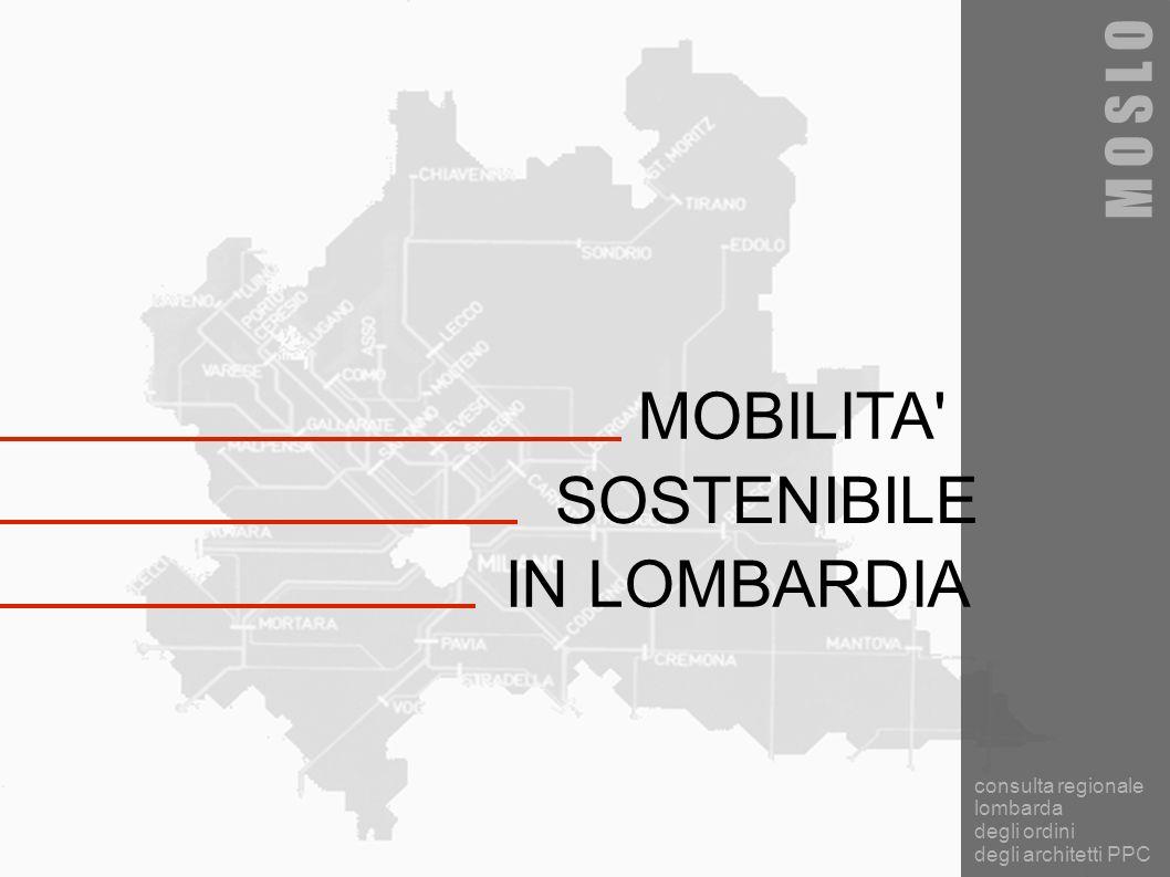 MOBILITA SOSTENIBILE IN LOMBARDIA M O S L O consulta regionale