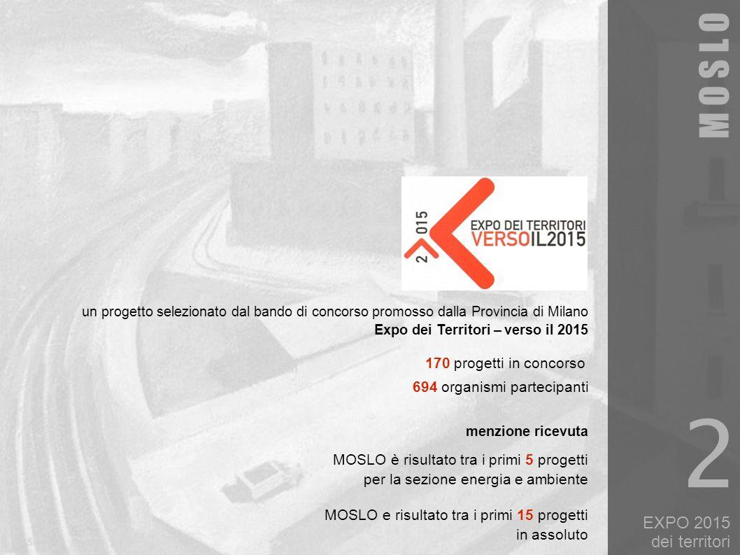 2 M O S L O EXPO 2015 dei territori 170 progetti in concorso
