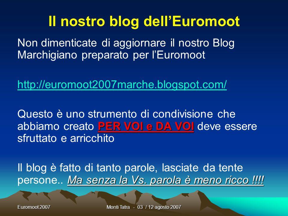 Il nostro blog dell'Euromoot