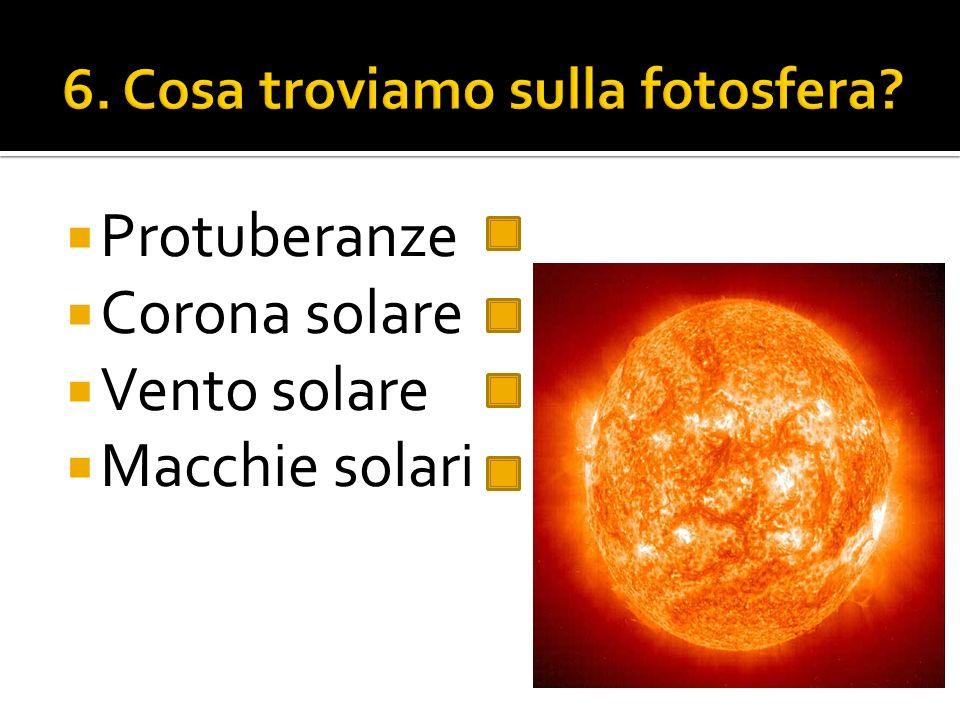 6. Cosa troviamo sulla fotosfera