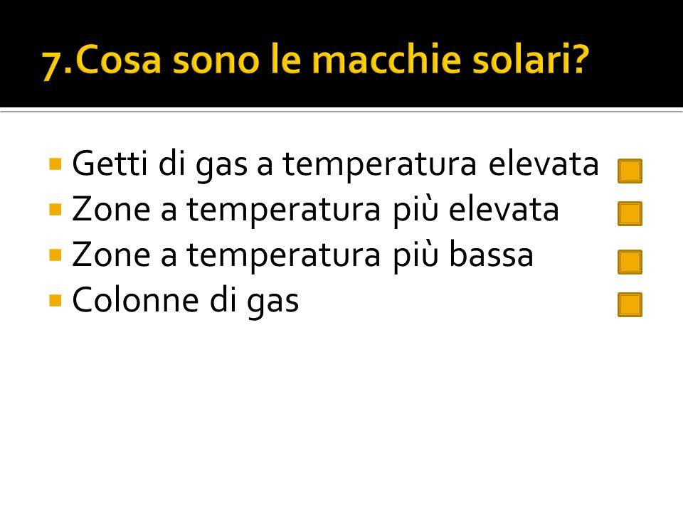 7.Cosa sono le macchie solari