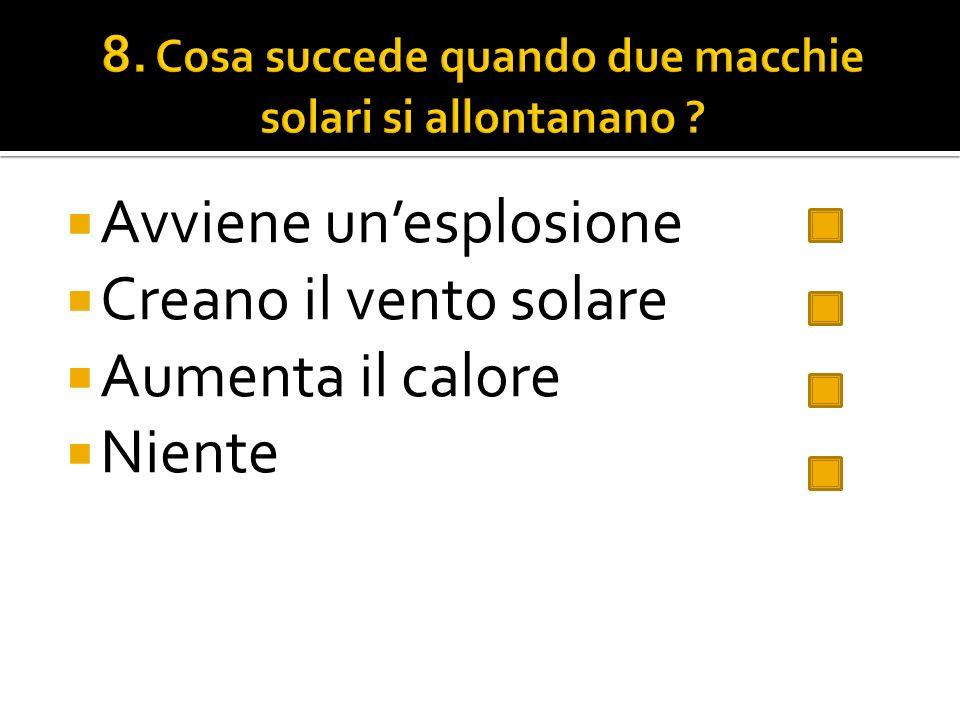 8. Cosa succede quando due macchie solari si allontanano