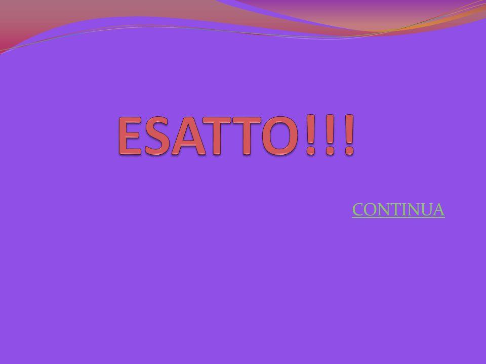 ESATTO!!! CONTINUA
