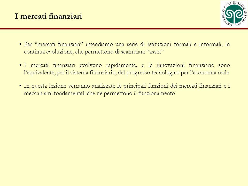 I mercati finanziari