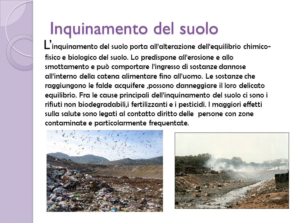 Inquinamento del suolo