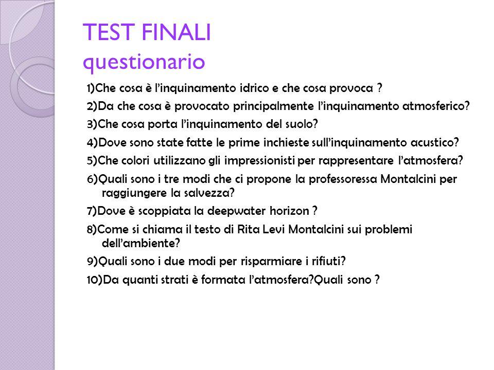 TEST FINALI questionario