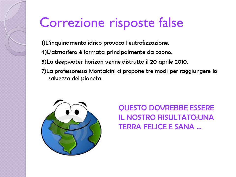 Correzione risposte false