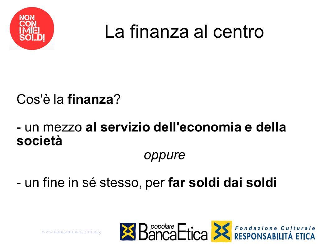 La finanza al centro Cos è la finanza