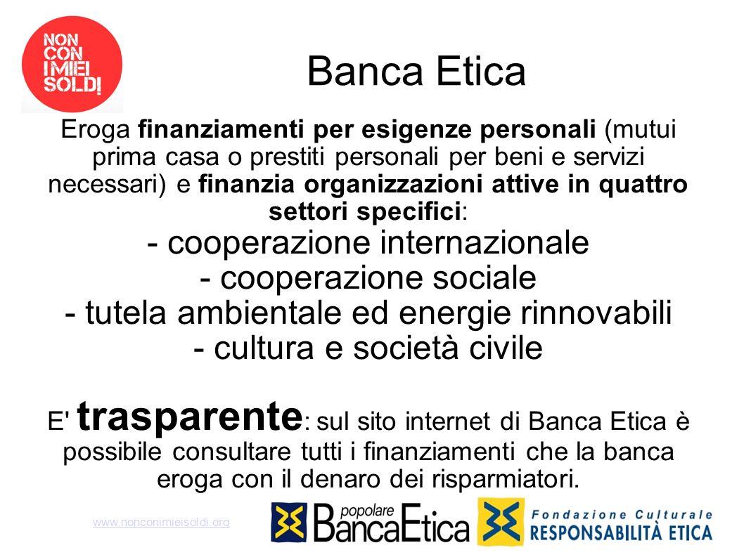 Banca Etica - cooperazione internazionale - cooperazione sociale