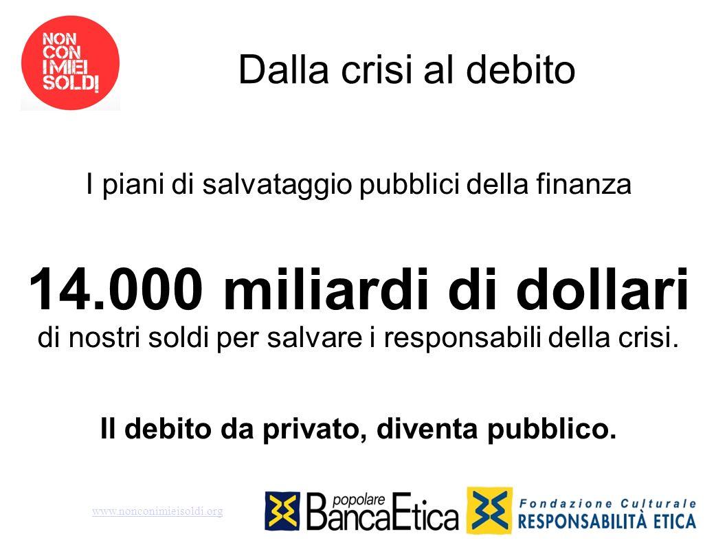Il debito da privato, diventa pubblico.