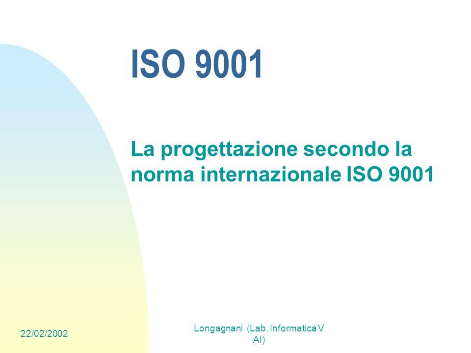 La progettazione secondo la norma internazionale ISO 9001