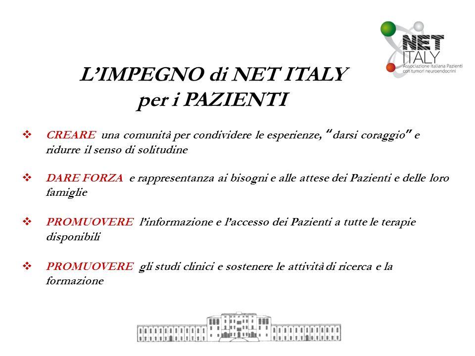 L'IMPEGNO di NET ITALY per i PAZIENTI
