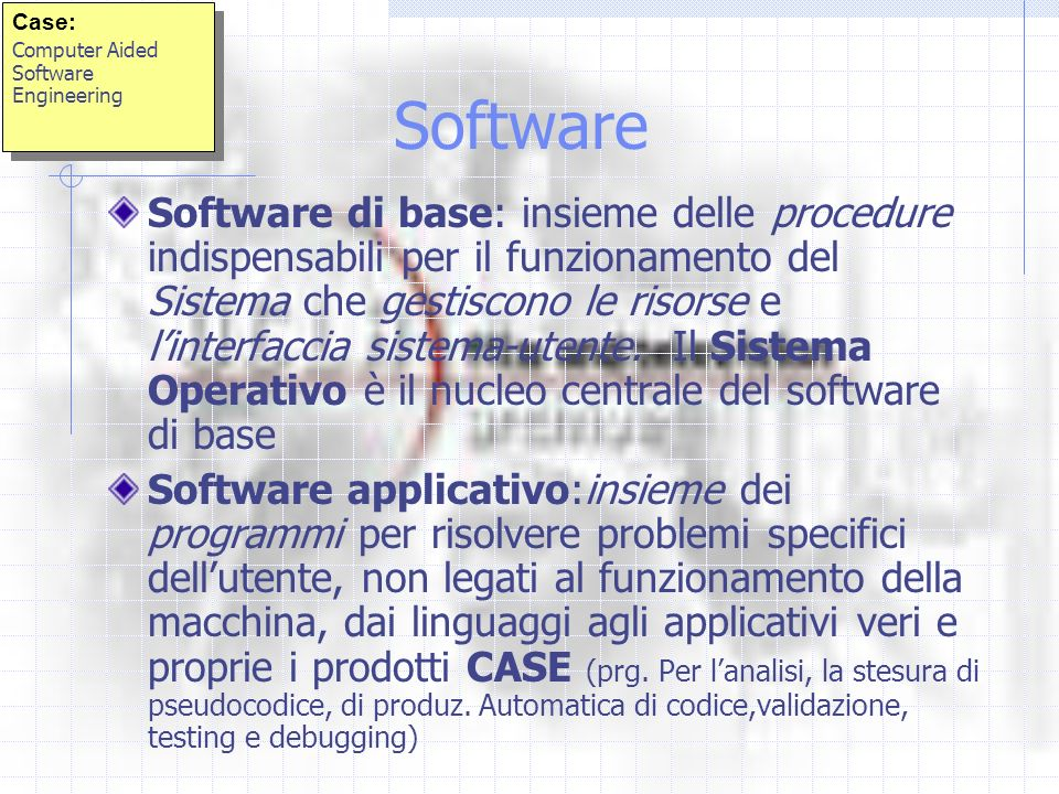 Case: Computer Aided Software Engineering. Software.