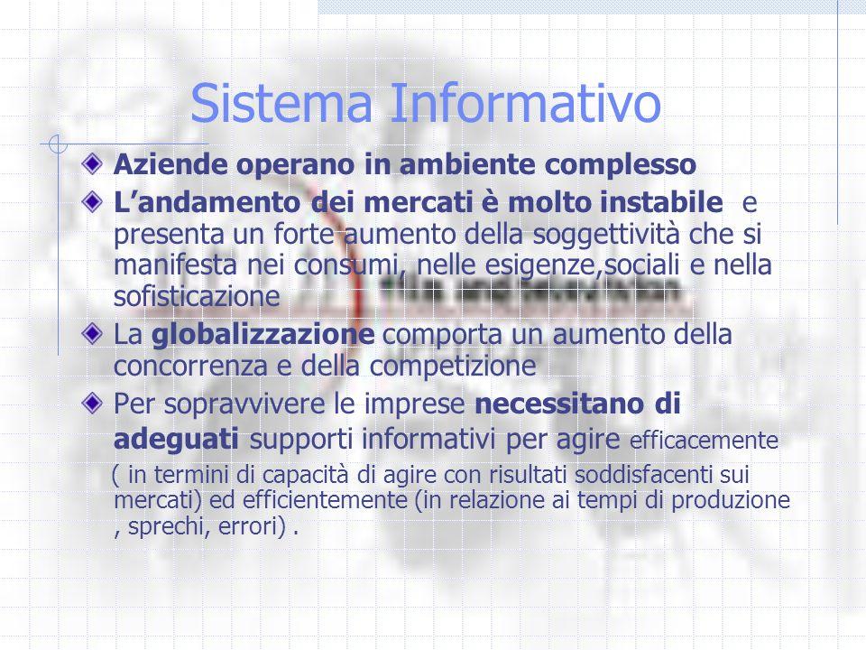 Sistema Informativo Aziende operano in ambiente complesso