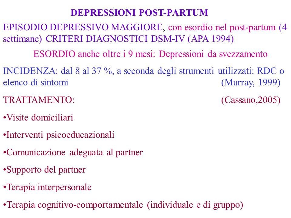 DEPRESSIONI POST-PARTUM
