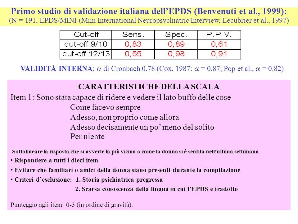 CARATTERISTICHE DELLA SCALA