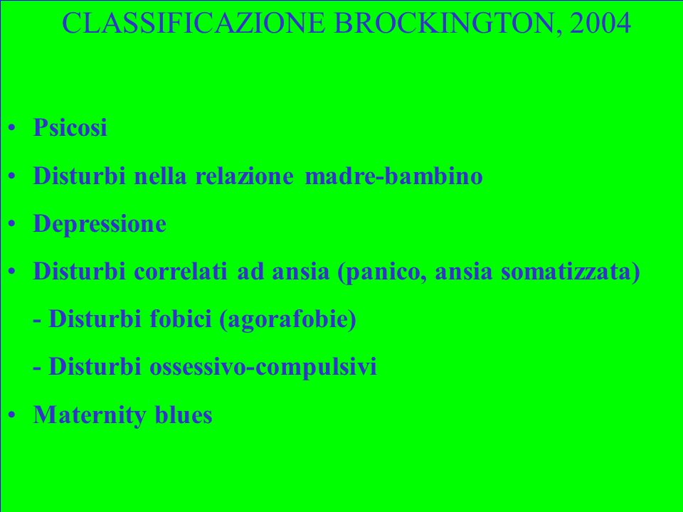 CLASSIFICAZIONE BROCKINGTON, 2004