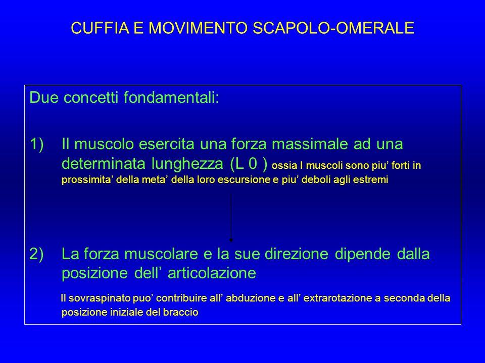CUFFIA E MOVIMENTO SCAPOLO-OMERALE