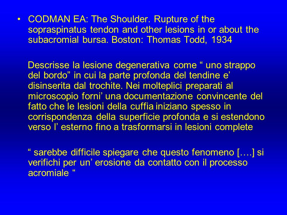 CODMAN EA: The Shoulder