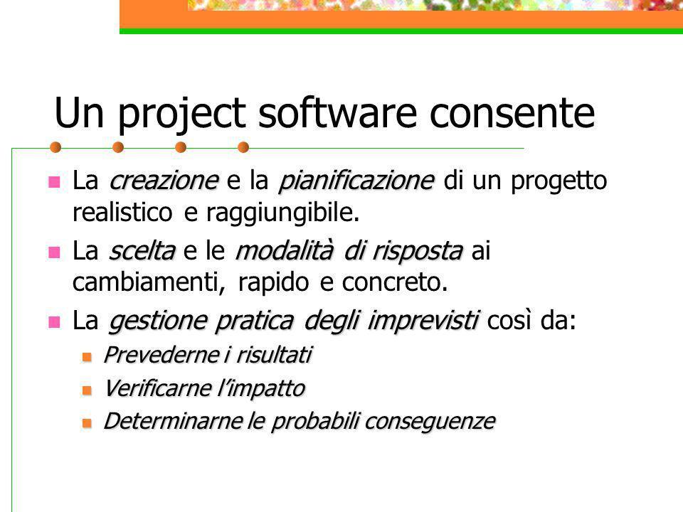 Un project software consente