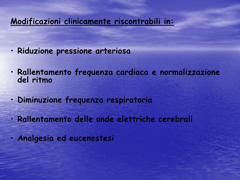 Modificazioni clinicamente riscontrabili in: