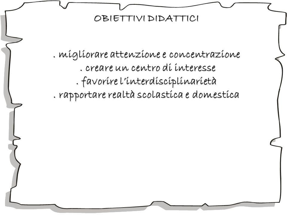 . migliorare attenzione e concentrazione