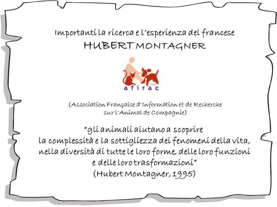 HUBERT MONTAGNER Importanti la ricerca e l'esperienza del francese