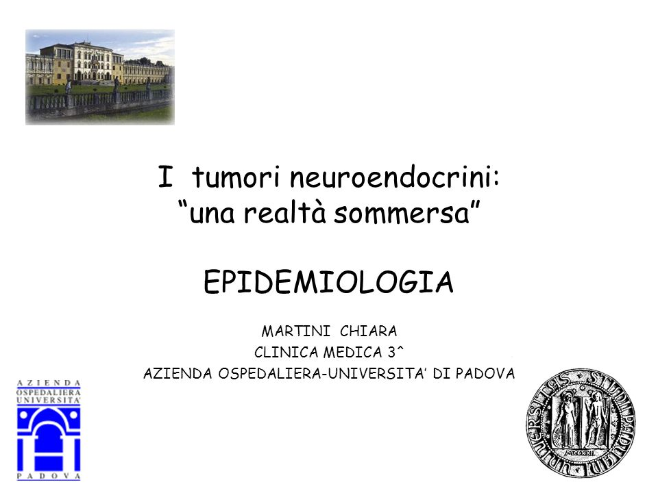 I tumori neuroendocrini: una realtà sommersa EPIDEMIOLOGIA