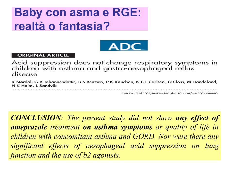 Baby con asma e RGE: realtà o fantasia