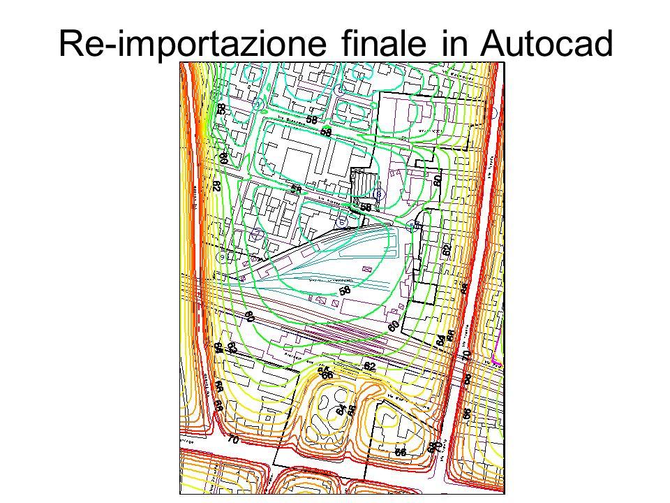 Re-importazione finale in Autocad