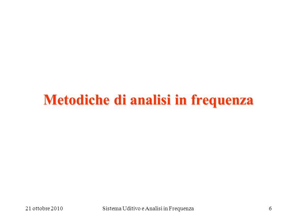 Metodiche di analisi in frequenza