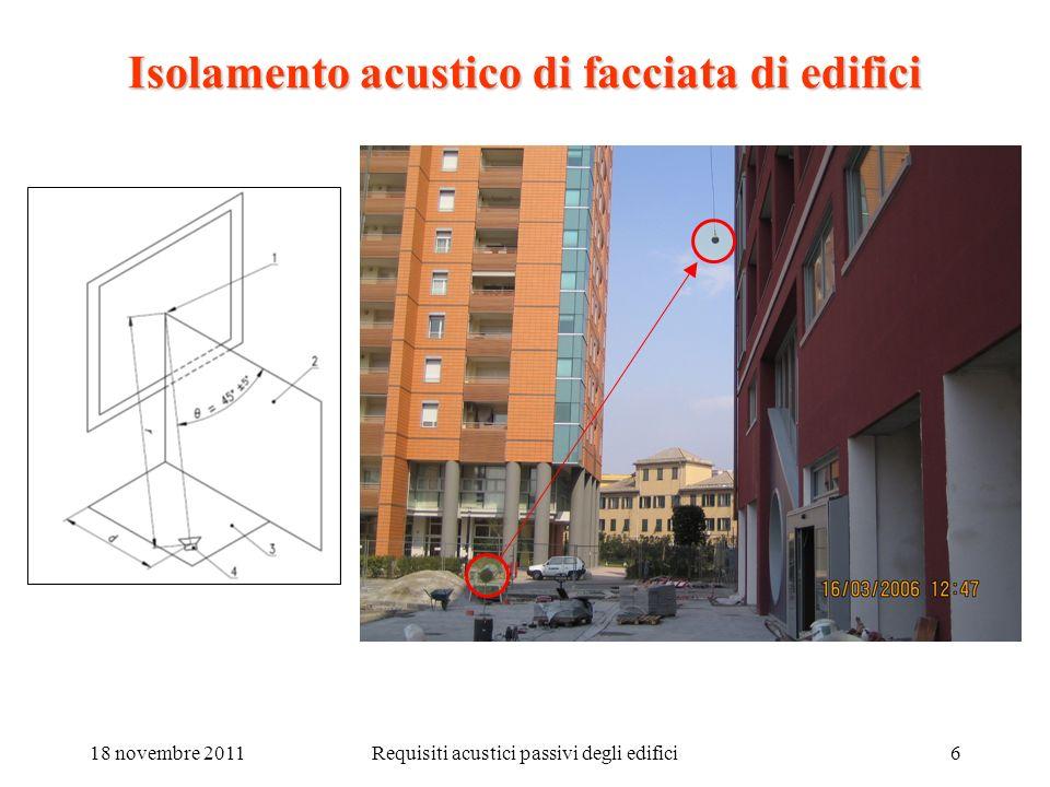 Isolamento acustico di facciata di edifici