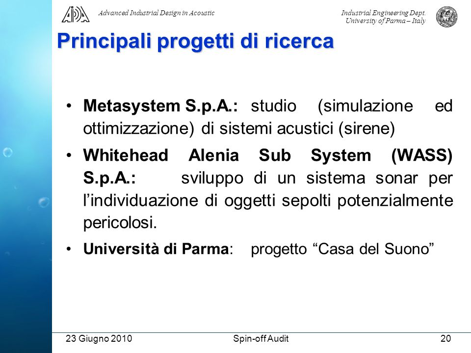 Principali progetti di ricerca