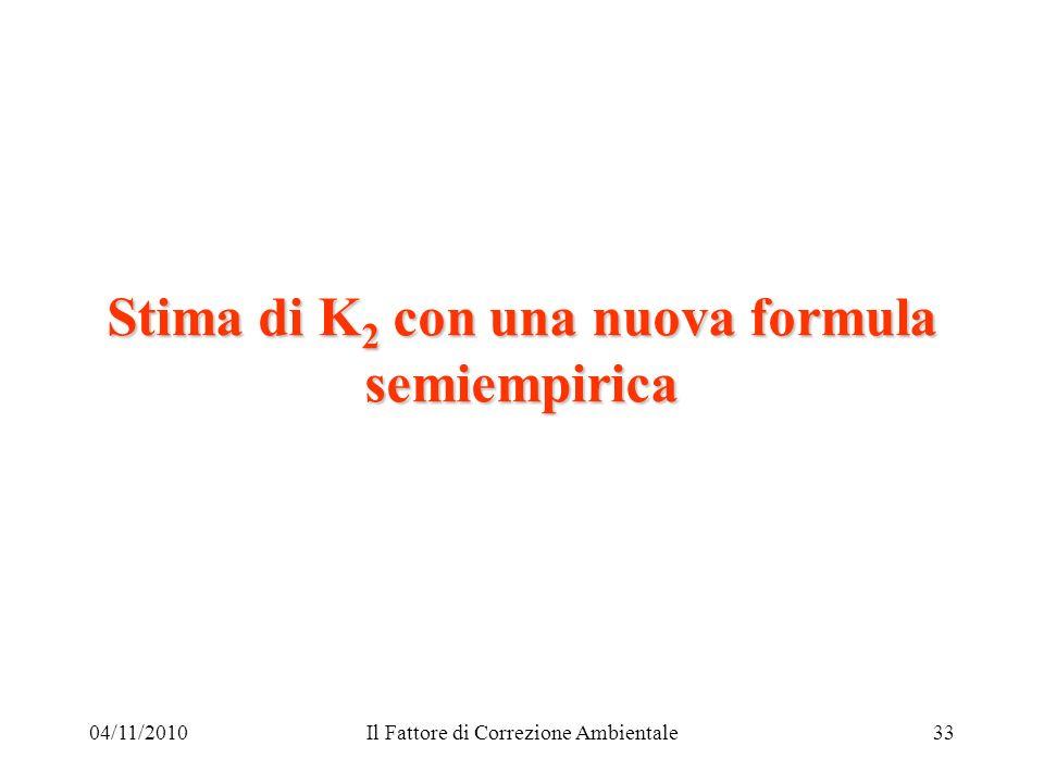 Stima di K2 con una nuova formula semiempirica