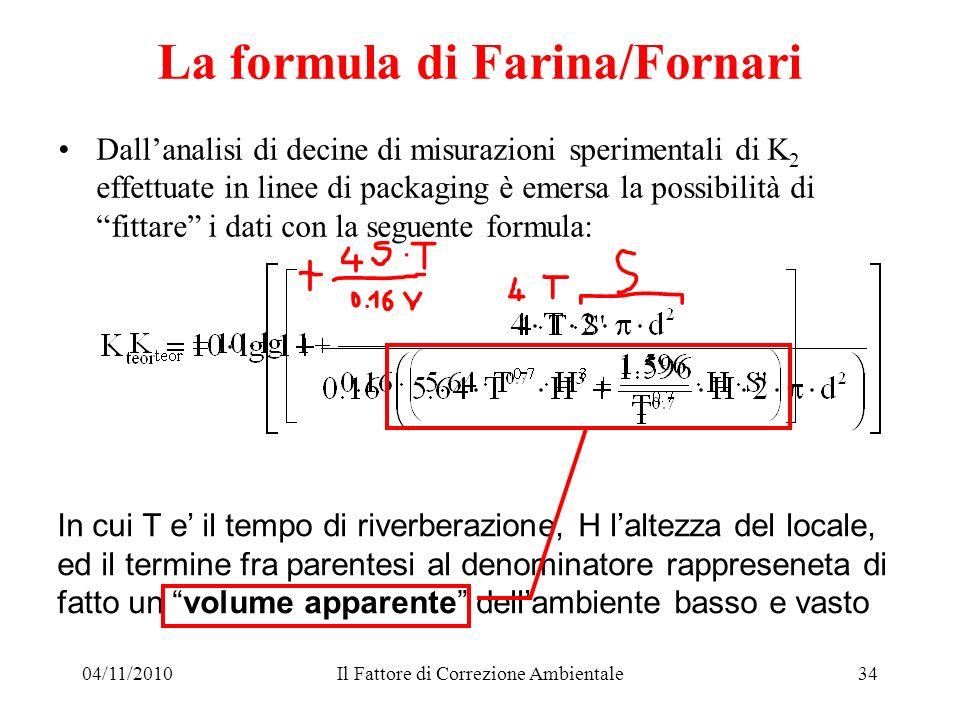 La formula di Farina/Fornari