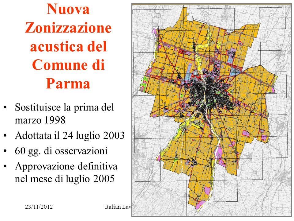 Nuova Zonizzazione acustica del Comune di Parma