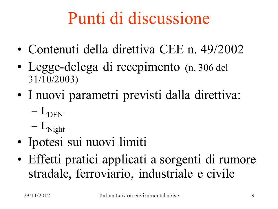 Italian Law on envirnmental noise