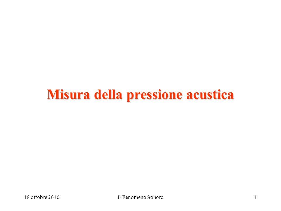 Misura della pressione acustica